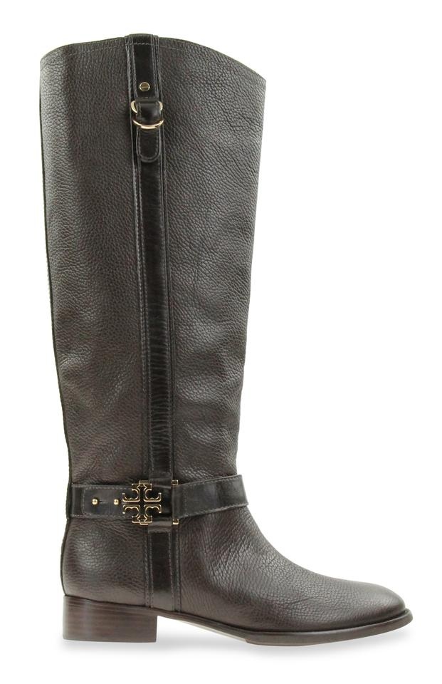 5f9d6e918e4f Tory Burch Brown Elina Tall Riding Boots Booties Size US 9.5 Regular ...