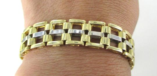 Other 14KT YELLOW WHITE GOLD BRACELET HALLMARK FINE JEWELRY 30.1 GRAM RECTANGLE LUXURY
