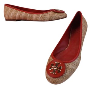 Tory Burch Red/Natural Flats
