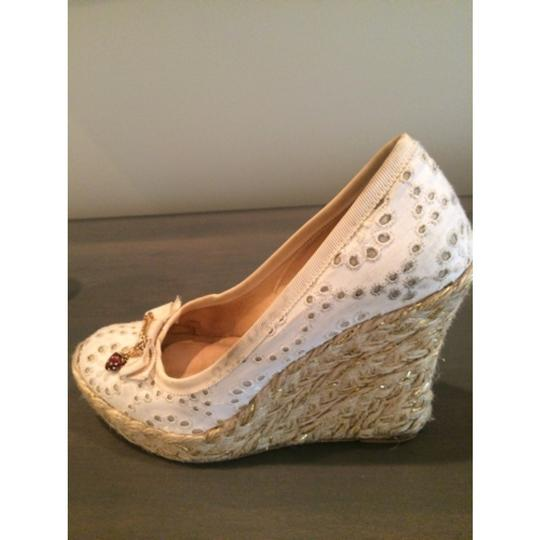 Juicy Couture White Wedges