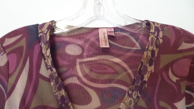 Sweet Pea by Stacy Frati Anthropogie Mesh Medium Excellent Condition Knit Top Green, Magenta, Burgendy, Blue +++