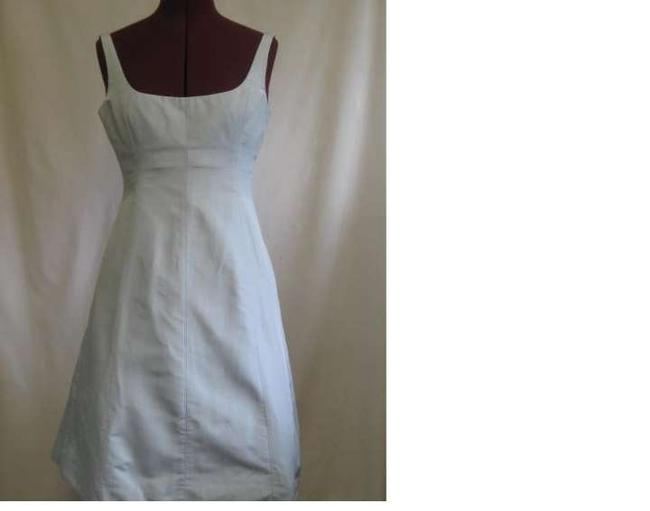 Item - Dove Grey Silver Silk Whitney Traditional Bridesmaid/Mob Dress Size 6 (S)