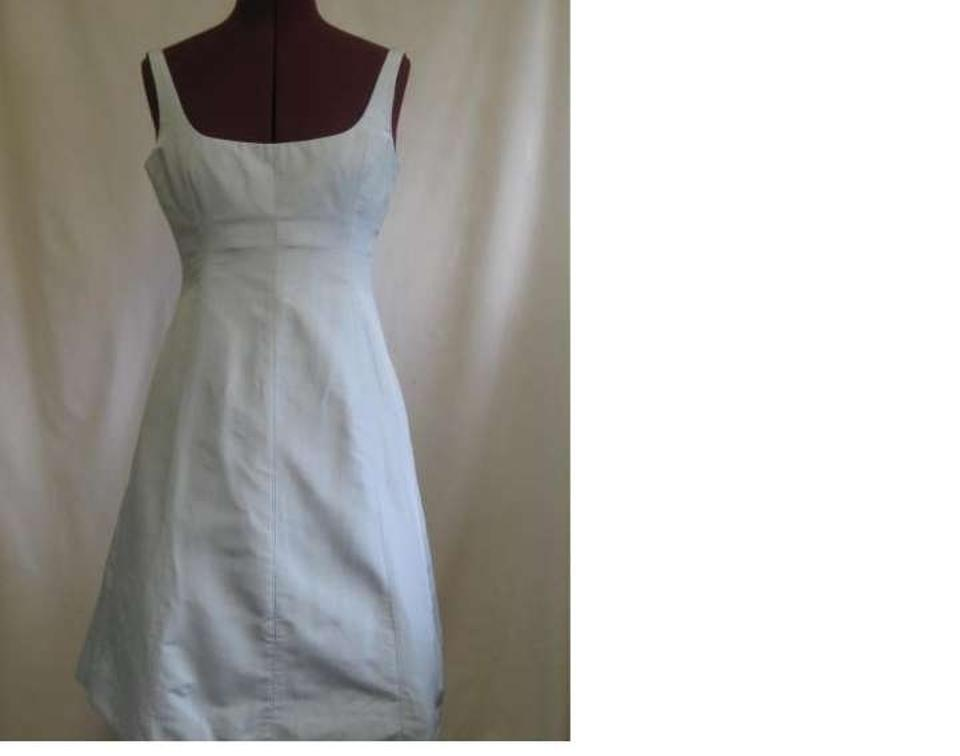 J Crew Dove Grey Silver Silk Whitney Traditional Bridesmaid Mob Dress Size 6