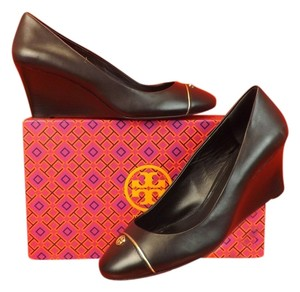 Tory Burch Black/Gold Wedges