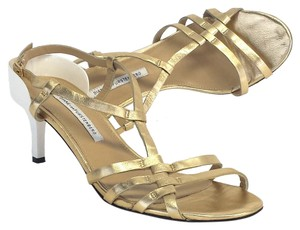 Diane von Furstenberg Leather Strappy Sandal Heels Sandals