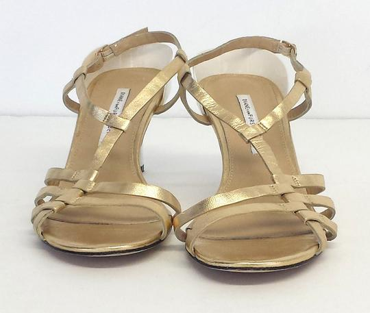 Diane von Furstenberg Leather Strappy Heels Sandals