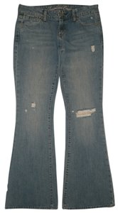 American Eagle Outfitters 5 Pocket Style Zip Fly Flare Leg Jeans-Medium Wash