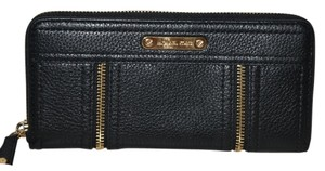 Michael Kors NWT MICHAEL KORS MOXLEY ZIP AROUND CONTINENTAL WALLET BLACK LEATHER CLUTCH BAG