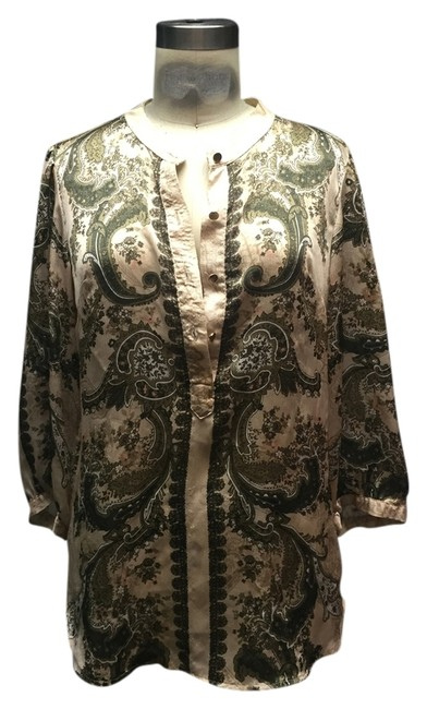Preload https://item1.tradesy.com/images/new-york-and-company-nude-paisley-silk-tunic-size-2-xs-4257400-0-0.jpg?width=400&height=650