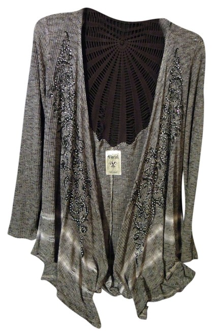 Preload https://item2.tradesy.com/images/vocal-cardigan-gray-and-black-4257481-0-0.jpg?width=400&height=650