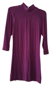 Forever 21 Keyhole Turtleneck Rayon Spandex Dryclean Only Top Purple