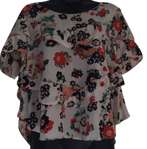 Joie Top Off white/cream with floral print