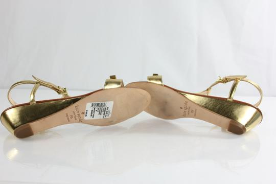 Kate Spade Gold/Brown Wedges
