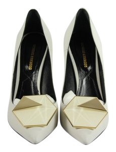 Nicholas Kirkwood White/Gold/Black Pumps