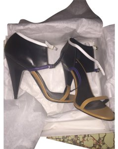 Pierre Hardy Cone Neutral Classic Limited Edition Rare Black Nude Blue White Sandals
