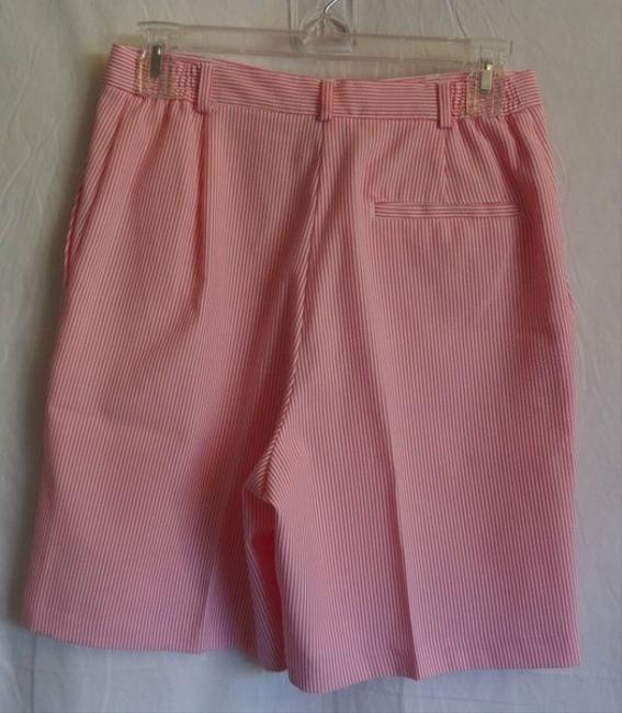 EP Pro Golf Dress Shorts Pink and White Striped
