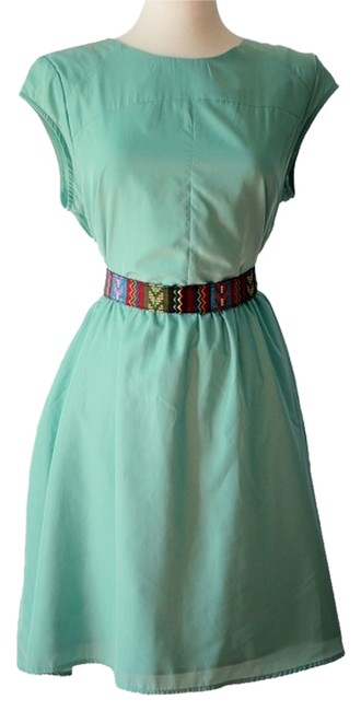 Mossimo Supply Co. short dress Turquoise Fit And Flare Sleeveless Mint Knee on Tradesy
