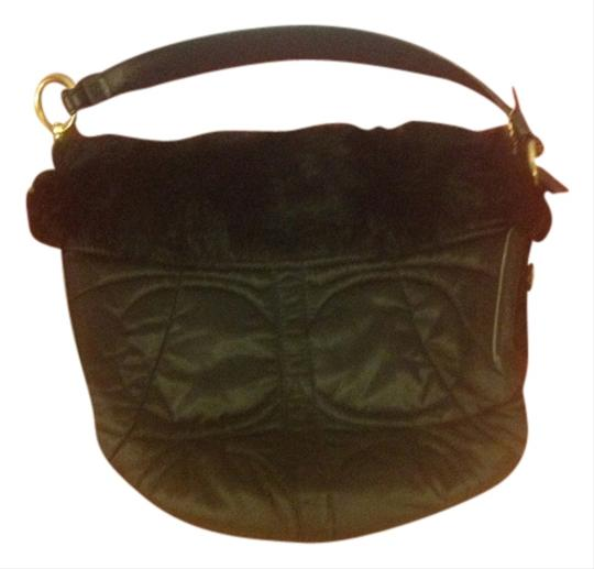 Coach Fur Satin Hobo Bag