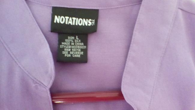 Notations Button Down Shirt lavender