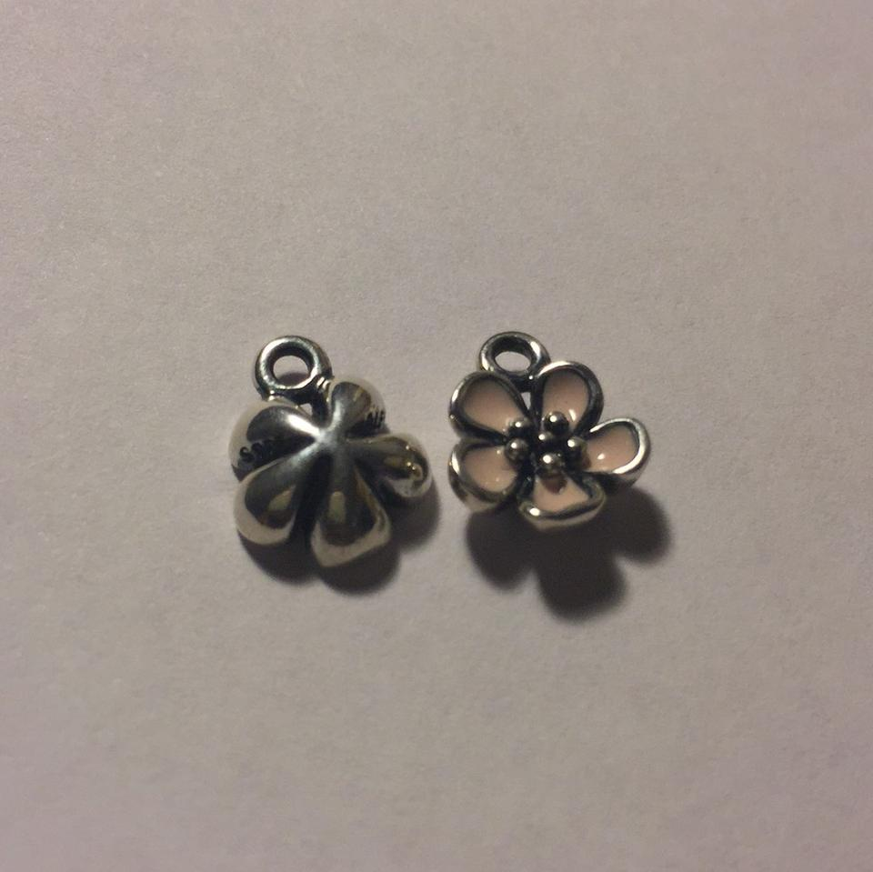 Pandora silver and pink flower composite no post earrings tradesy pandora flower composite earrings no post 123 mightylinksfo