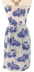 French Atmosphere short dress White And Blue on Tradesy