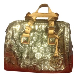 Michael Kors Monogram Satchel in nickel