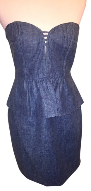 Aryn K short dress Blue Green Linen on Tradesy