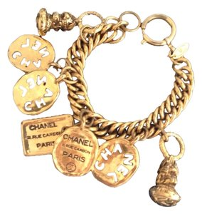 Chanel CHANEL GOLD PLATED CHARM BRACELET