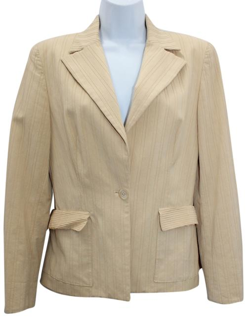 Piazza Sempione Beige Stretch Cotton Blazer