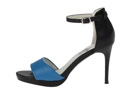 Charles Albert Black/Blue Sandals