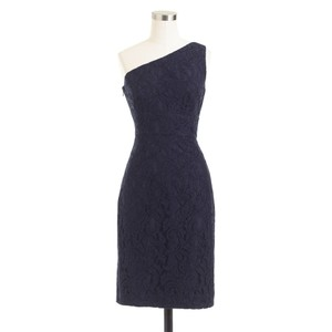 J.Crew Navy Alexa Dress In Leavers Lace Dress