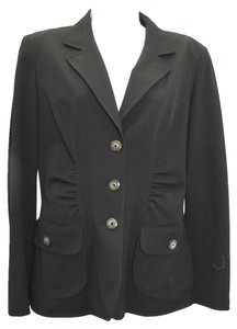 St. John Stretch Black Jacket Blazer