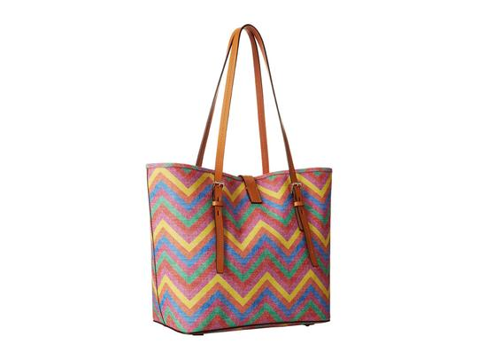 Dooney & Bourke Tote in Multi w/ Butterscotch Trim