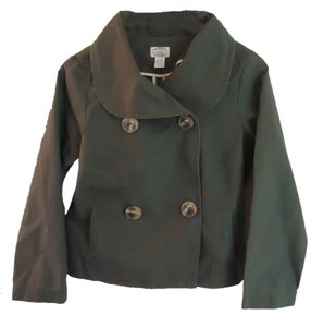 Anthropologie Sitwell Cotton Green Cropped military green Jacket
