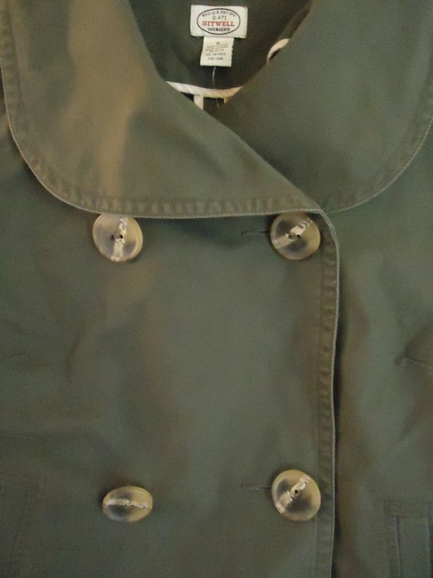 Anthropologie Sitwell Cotton Cropped military green Jacket