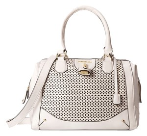 London Fog Satchel in White Perf