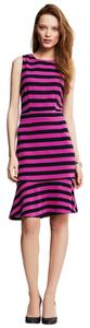 Banana Republic Stripe Ponte Flounce Dress
