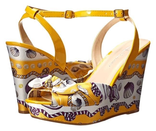 CL by Laundry Yellow Open Toe Sandals Size US 8.5 Regular (M, B) CL by Laundry Yellow Open Toe Sandals Size US 8.5 Regular (M, B) Image 1
