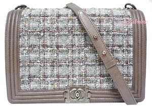 Chanel Boy Flap Tweed Shoulder Bag