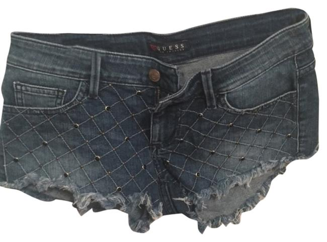 Guess Embellished Studded Shorts Jean