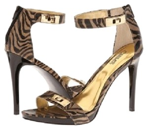 Carlos by Carlos Santana Gold Zebra Sandals
