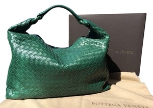 Bottega Veneta Handmade Leather Woven Hobo Bag
