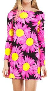 Blumarine short dress Pink Yellow on Tradesy