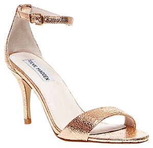 Steve Madden Metallic Night Out Date Night Cocktail Rose Gold Sandals