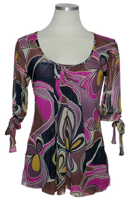 Preload https://item5.tradesy.com/images/sweet-pea-by-stacy-frati-pink-multi-mesh-knit-blouse-size-8-m-4267099-0-0.jpg?width=400&height=650