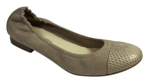 Chanel Python Canvas Dark Beige Flats