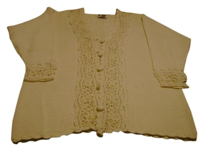 All Points Vintage Crocheted Sweater