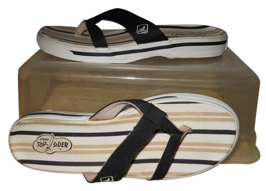 Preload https://item4.tradesy.com/images/sperry-black-white-and-beige-top-sider-thong-sandals-size-us-7-regular-m-b-4267123-0-0.jpg?width=440&height=440
