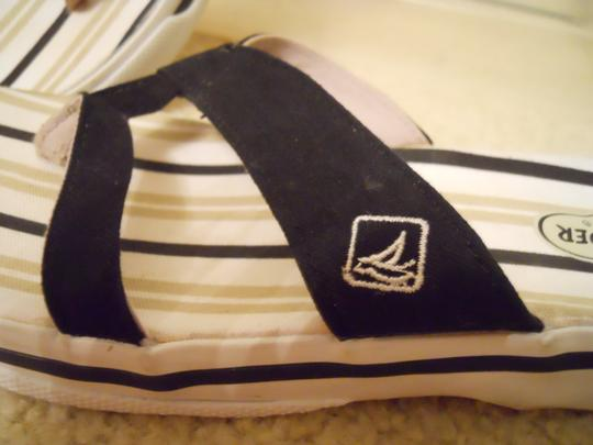 Sperry black, white & beige Sandals