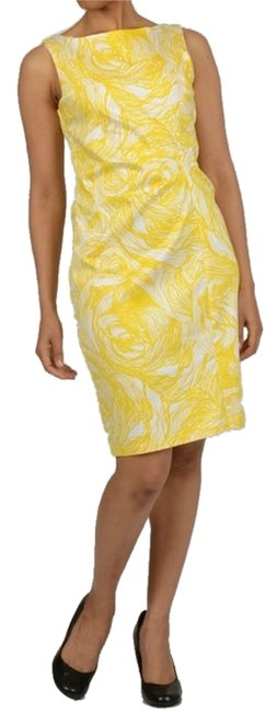 Jonathan Martin short dress Yellow on Tradesy